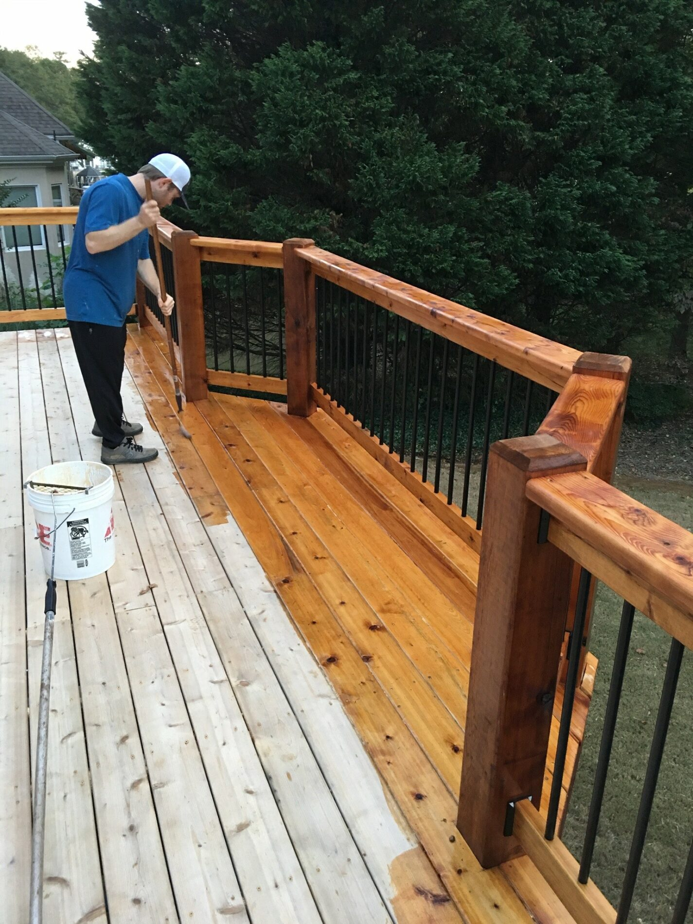 Deck Staining Blue Monkey